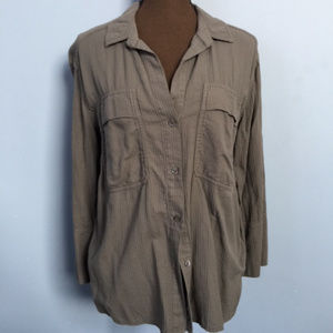 James Perse Tab-Sleeve Button-Up